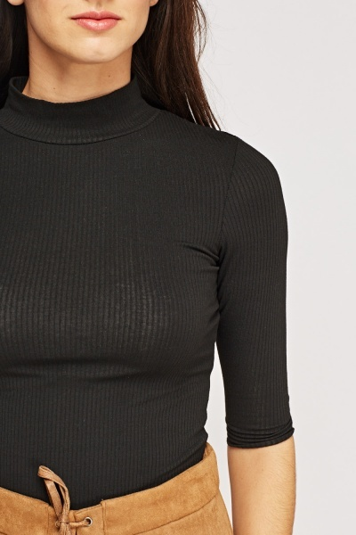 High Neck 3/4 Sleeve Top