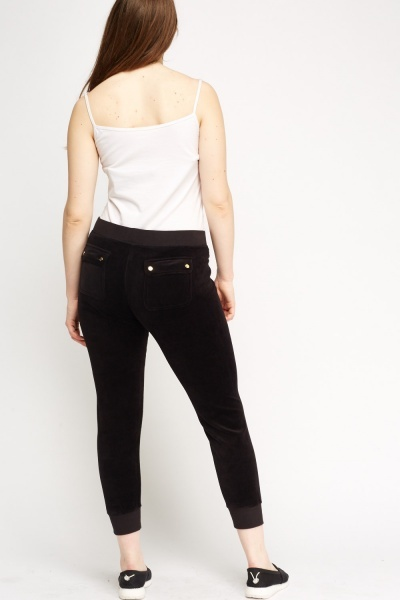 Juicy Couture Solid Black Pants