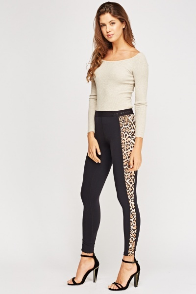 Juicy Couture Sport Leopard Contrast Print Leggings