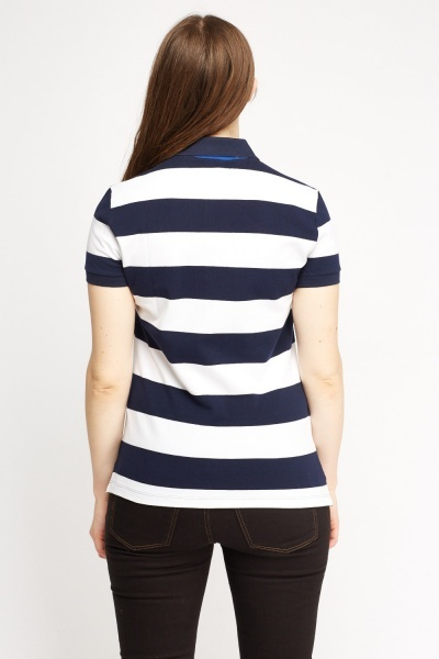 Lacoste Stripe Polo T-Shirt