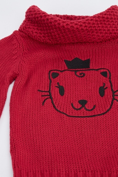 Cat Knitted Jumper