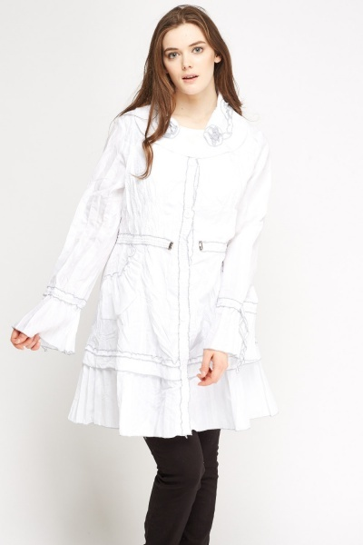 Button Up Crinckled Jacket
