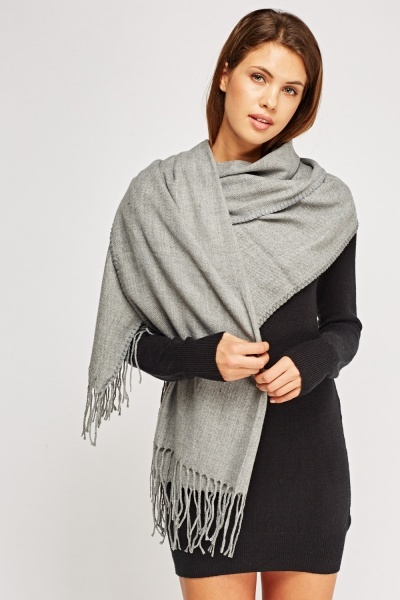 Fringed Basic Scarf