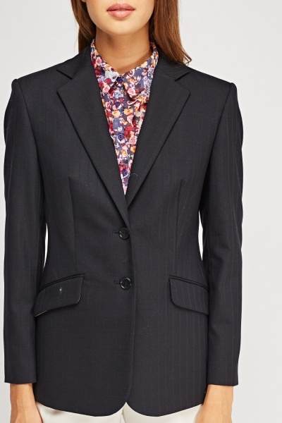 Pinstripe Formal Blazer