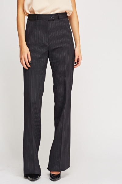Pinstriped Formal Trousers