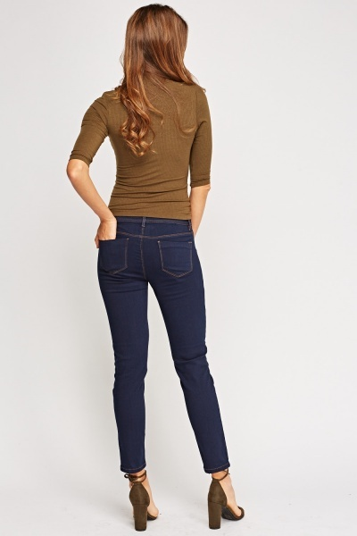 Slim Fit Navy Jeans