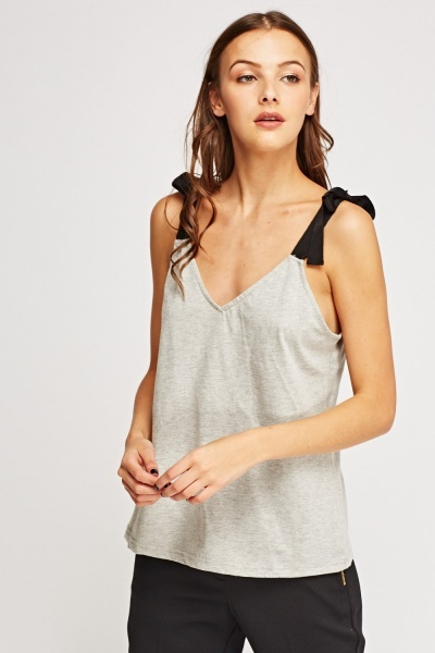 Tie Up Shoulder Vest Top