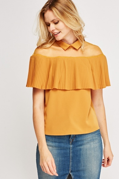 Pleated Collar Blouse
