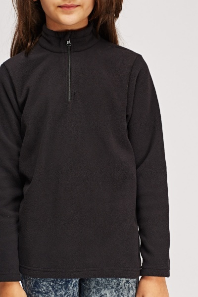 Fleeced Zip Neck Jumper