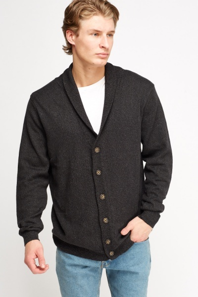 Button Up Speckled Knitted Cardigan