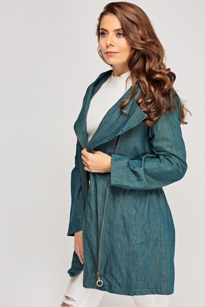 Lapel Front Long Jacket