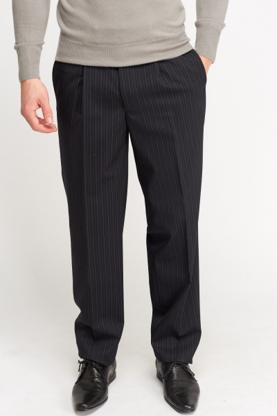 Mens Pinstripe Formal Trousers
