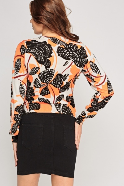 Mix Printed Cardigan