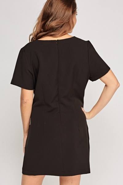 Pocket Front Shift Dress
