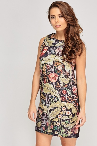 Printed Front Shift Dress