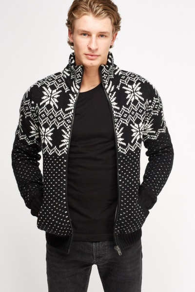 Zip Up Knitted Jacket