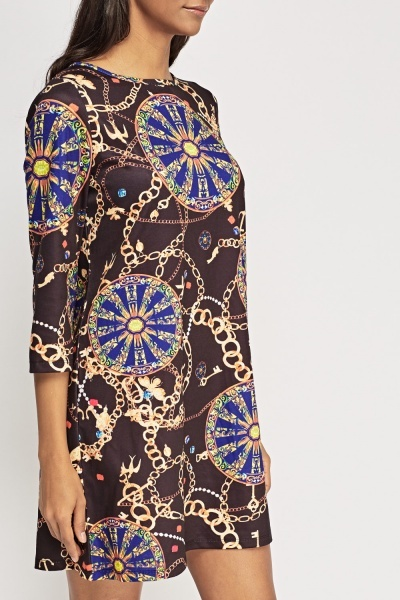 Chain Printed Dress