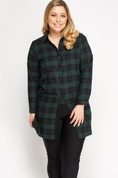 Checked Grid Basic Shirt