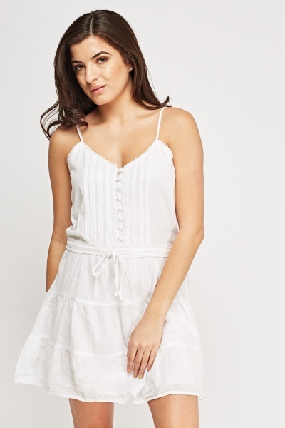 Button Up Cotton Cami Dress