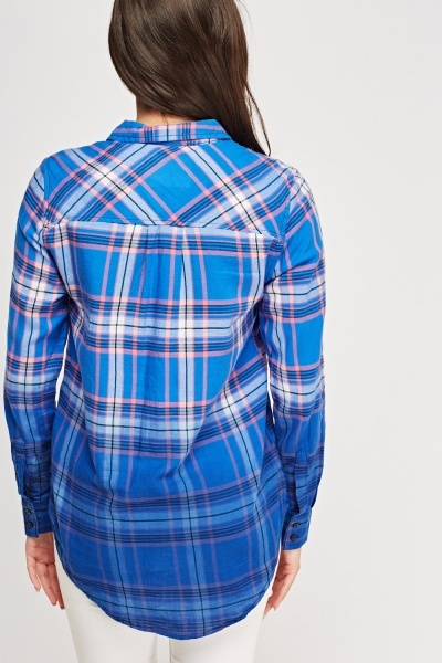 Ombre Checked Shirt
