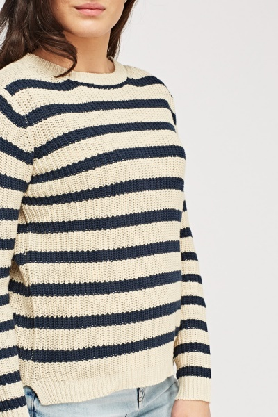 Ribbed Striped Jumper