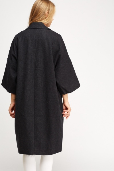 3/4 Sleeve Boyfriend Coat