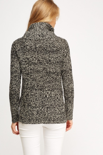 Speckled Roll Neck Jumper