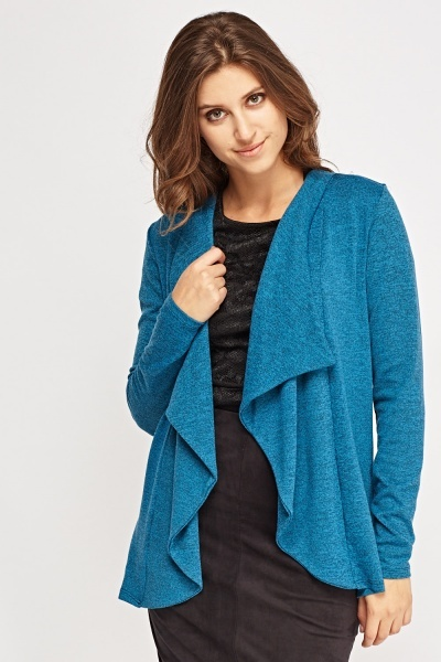 Speckled Open Front Cardigan