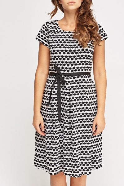 Textured Tie Up Dress