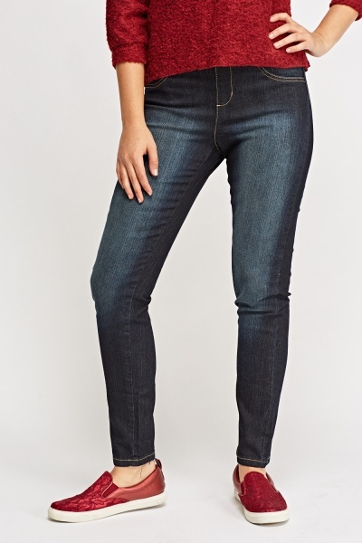 Washed Navy Jeggings