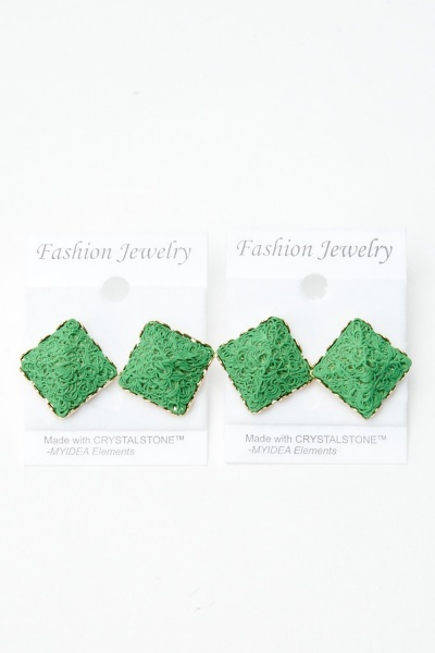 Image of 2 Pairs Of 3D Pyramid Stud Earrings