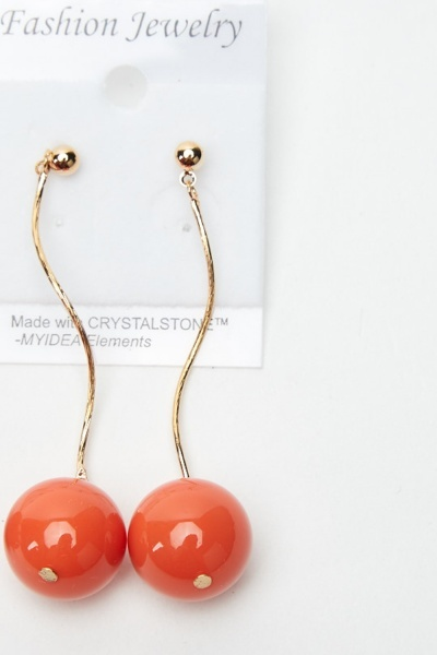 2 Pairs Of Ball Dangle Earrings