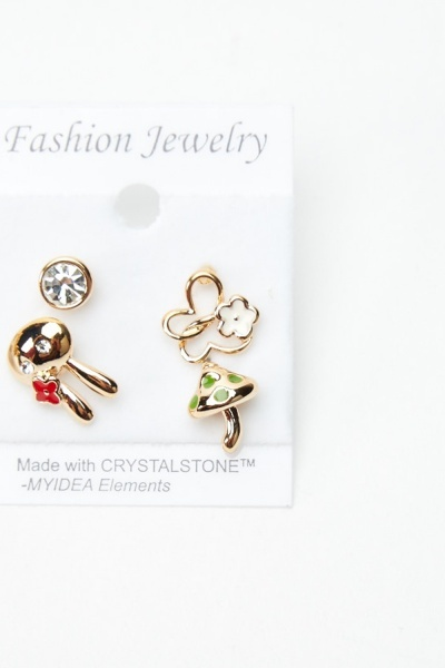 4 Pairs Of Mix Stud Earrings