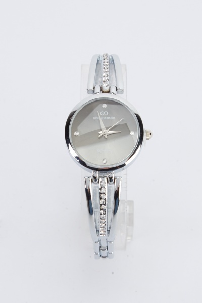 Encrusted Cut Out Strap Watch