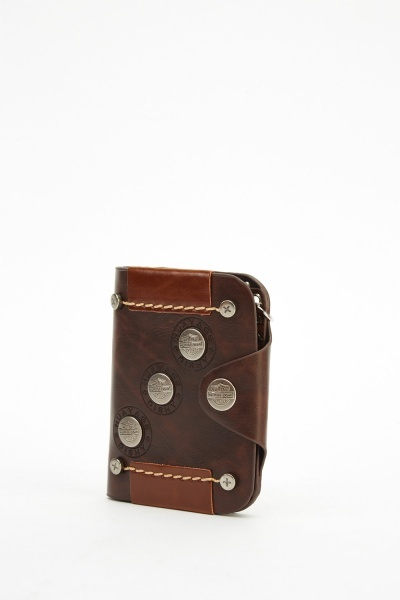 Faux Leather Detailed Wallet