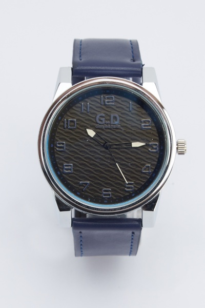 Basic Faux Leather Strap Watch