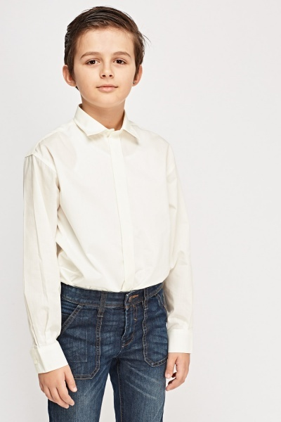 Boys Smart Ivory Shirt