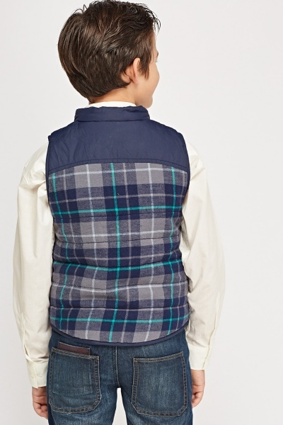Checked Contrast Bodywarmer