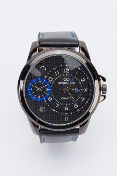 Large Face Chronograph Watch