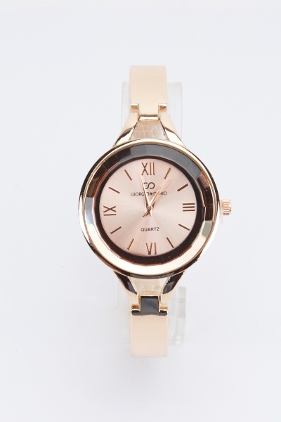 Skinny Metal Strap Watch