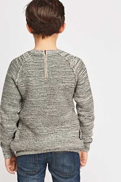 Speckled Zip Back Jumper