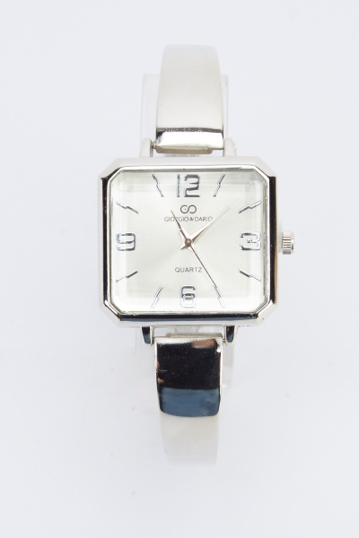 Square Face Metal Watch
