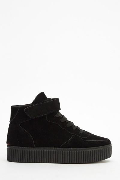 Flatform High Top Suedette Trainers