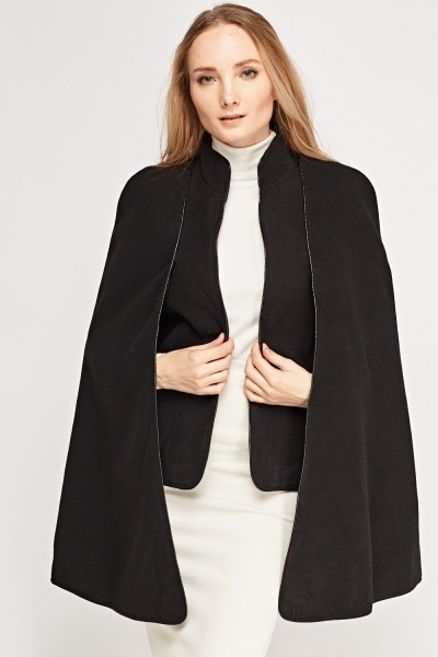 Fleece Casual Cape Jacket