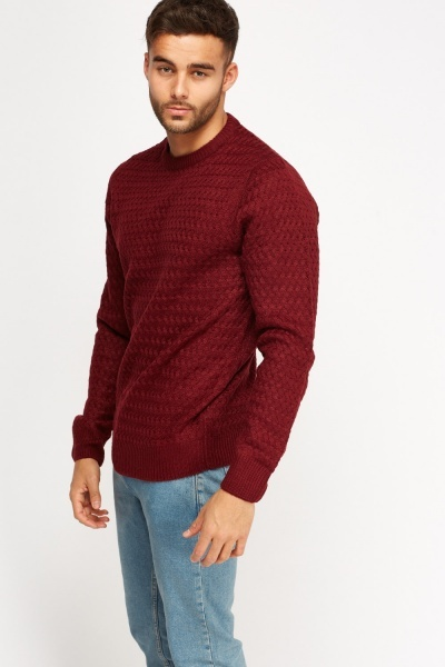 Textured Knitted Jumper