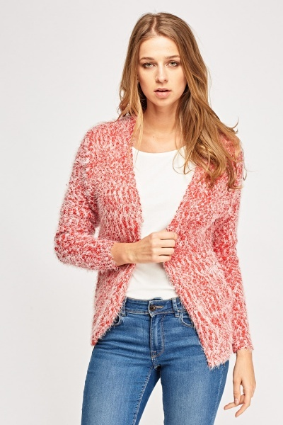 Bobble Knit Eyelash Cardigan