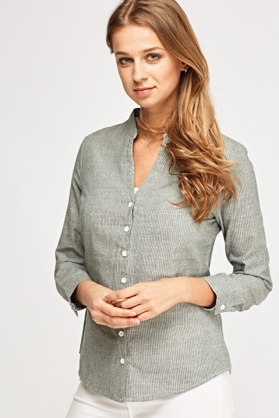 Pinstriped Basic Shirt
