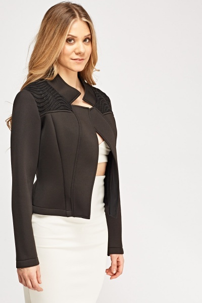 Contrast Shoulder Scuba Jacket