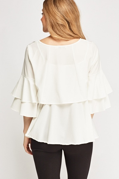 Flared 2 In 1 Overlay Top