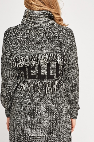 Hello Knitted Back Jumper